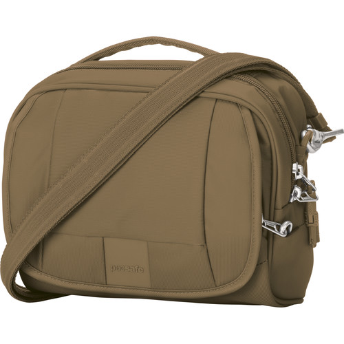 Pacsafe Metrosafe LS140 Anti-Theft Compact Shoulder Bag (Sandstone)