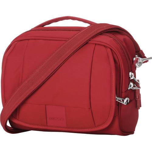Pacsafe Metrosafe LS140 Anti-Theft Compact Shoulder Bag (Vintage Red)