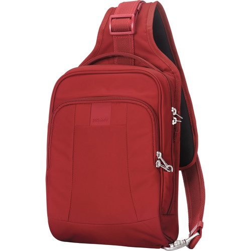 Pacsafe Metrosafe LS150 Anti-Theft Sling Backpack (Vintage Red)