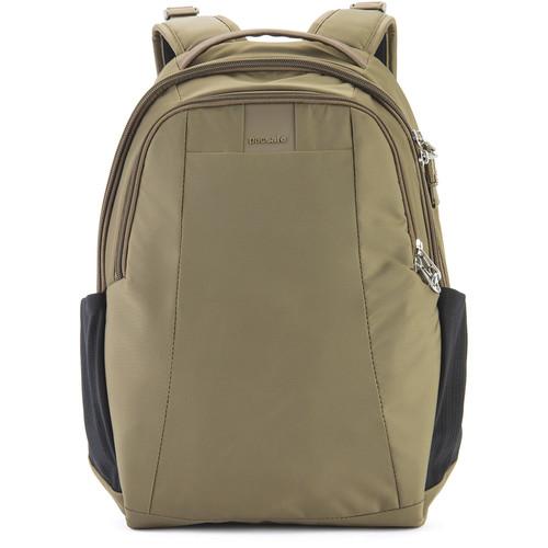 Pacsafe Metrosafe LS350 Anti-Theft Backpack (15L, Earth Khaki)