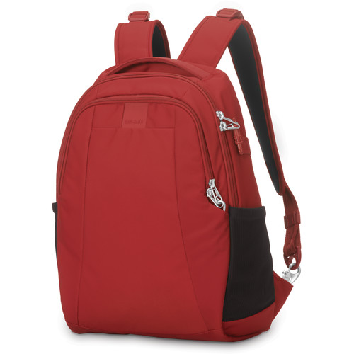 Pacsafe Metrosafe LS350 Anti-Theft Backpack (15L, Vintage Red)