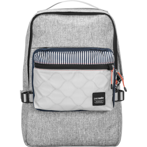 Pacsafe Slingsafe LX350 Anti-Theft Compact Backpack (Tweed Gray)