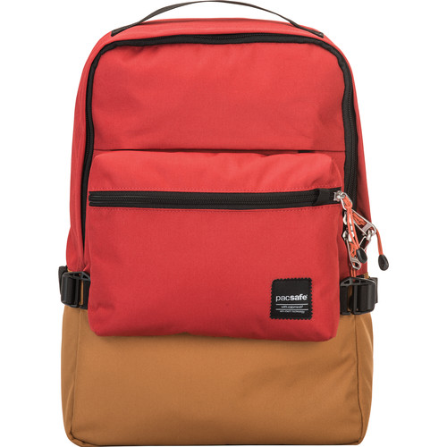 Pacsafe Slingsafe LX350 Anti-Theft Compact Backpack (Chili/Khaki)