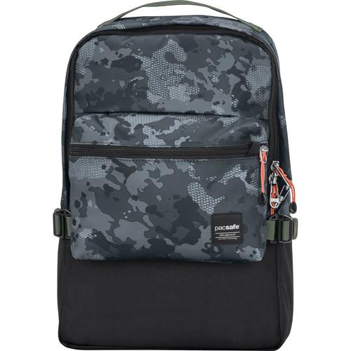 Pacsafe Slingsafe LX350 Anti-Theft Compact Backpack (Gray Camo)