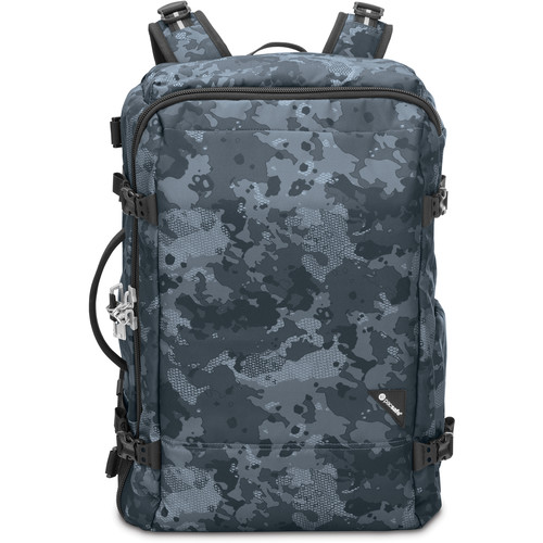 Pacsafe Vibe 40 Anti-Theft Carry-On Backpack (40L, Gray Camo)
