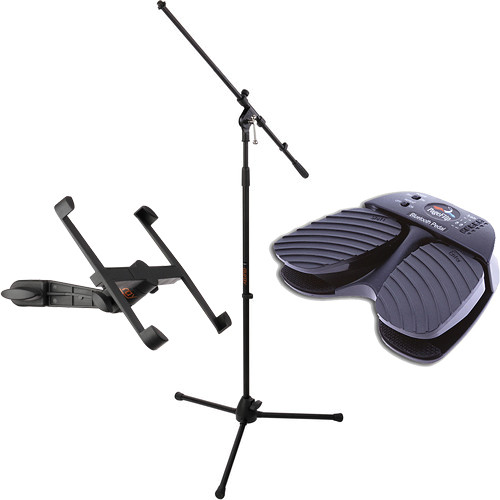 PageFlip iPad Microphone Stand and Wireless Pedal Kit