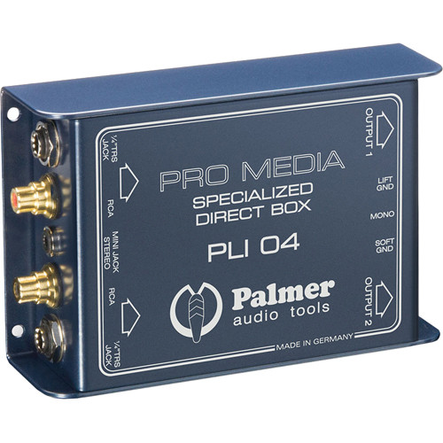 Palmer PLI04 Media DI Box for PC and Laptop (2 Channels)