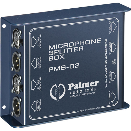 Palmer PMS02 Dual Channel Microphone Splitter