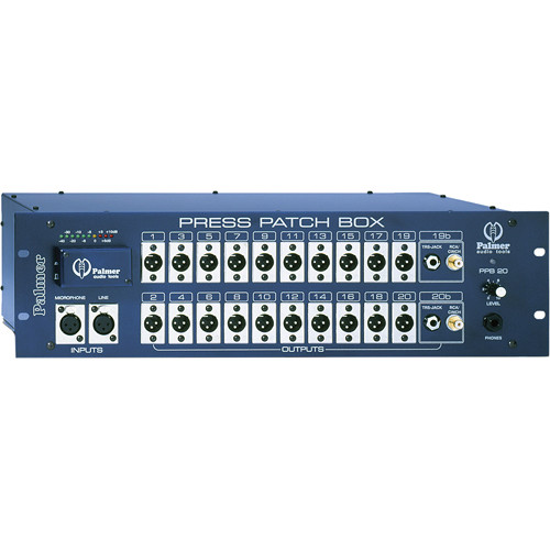 Palmer PPB20S Press Patch Box Stereo (20 Channels)