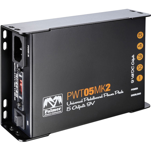 Palmer PWT05MK2 5-Output Universal 9V Pedalboard Power Supply