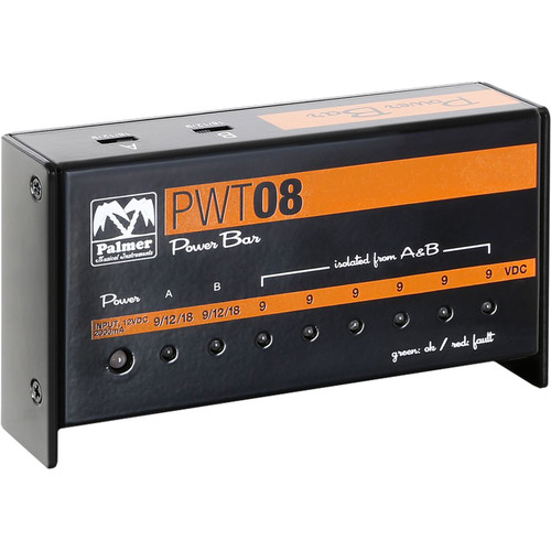 Palmer PWT08 8-Output Universal 9V Pedalboard Power Supply