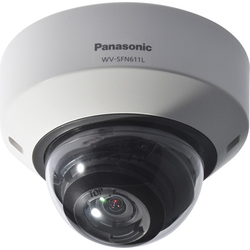 Panasonic 6 Series WV-SFN611L Indoor Enhanced Super Dynamic 720p Day/Night Dome Network Camera (Sail White)