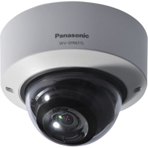 Panasonic 6 Series WV-SFR611L Indoor Enhanced Super Dynamic 720p Vandal-Resistant Dome Network Camera (Sail White)