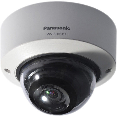 Panasonic 6 Series WV-SFR631L Indoor Enhanced Super Dynamic 1080p Vandal-Resistant Day/Night Dome Network Camera (Sail White)