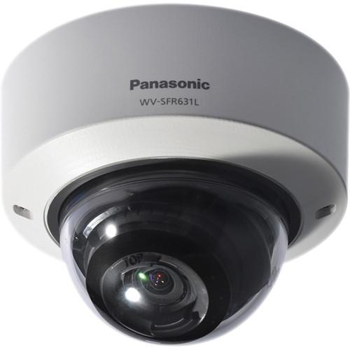 Panasonic 6 Series WV-SFR631L Indoor Enhanced Super Dynamic 1080p Vandal-Resistant Day/Night Dome Network Camera (Sail White)