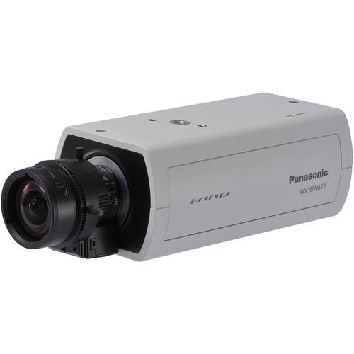 Panasonic 6 Series WV-SPN611 720p Indoor Day/Night PoE Network Box Camera (No Lens, Sail White)