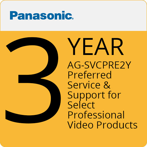 Panasonic AG-SVCPRE2Y Preferred Service & Support for Select Professional Video Products