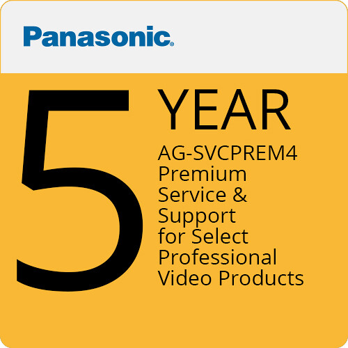 Panasonic AG-SVCPREM4 Premium Service & Support for Select Professional Video Products