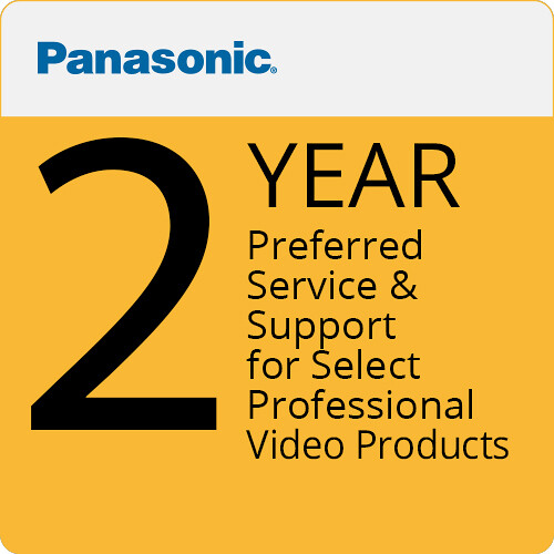 Panasonic AJ-SVCPRE2Y Preferred Service & Support for Select Professional Video Products