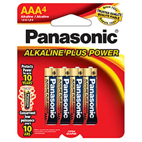 Panasonic 1.5V AAA Alkaline Plus Power Batteries (4-Pack)