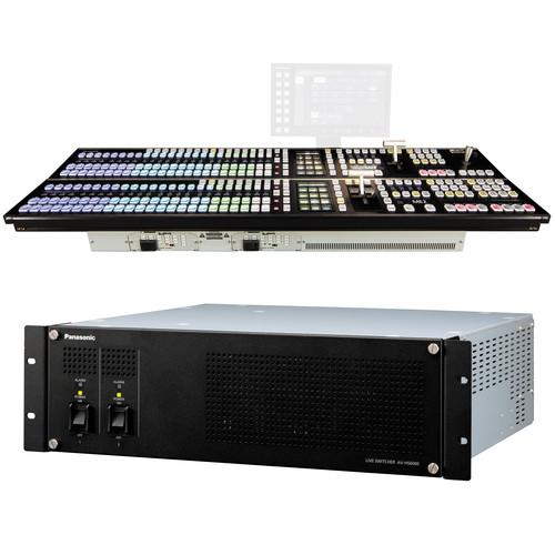 Panasonic AV-HS6000 2 M/E Live Switcher Main Frame & Control Panel (Dual Redundant Power Supplies)