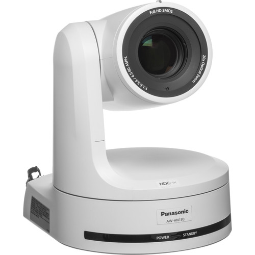 Panasonic AW-HN130 HD Integrated PTZ Camera with NDI|HX (White)