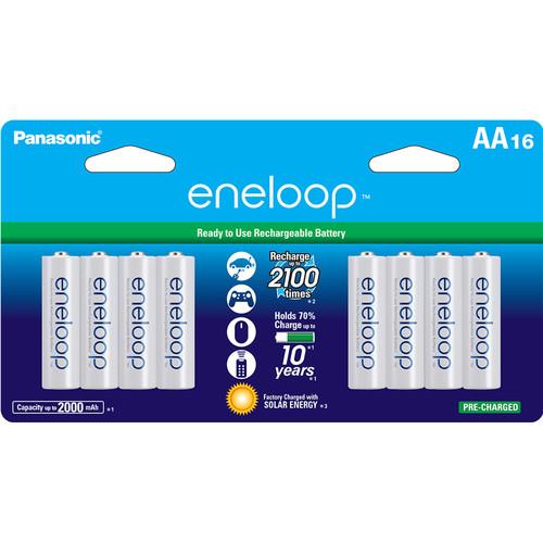 Panasonic Eneloop AA Rechargeable Ni-MH Batteries (2000mAh, Pack of 16)