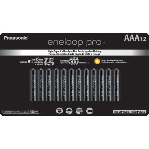 Panasonic Eneloop Pro AAA Rechargeable Ni-MH Batteries (950mAh, 12-Pack)