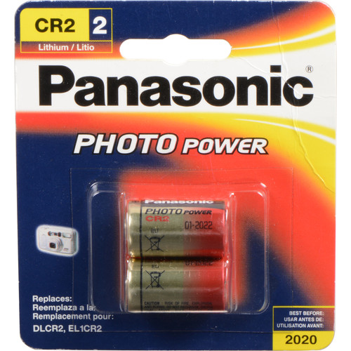 Panasonic CR2 Lithium Batteries (3V, 850mAh, 2-Pack)