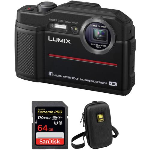 Panasonic DC-TS7 Digital Camera with Accessories Kit (Black)