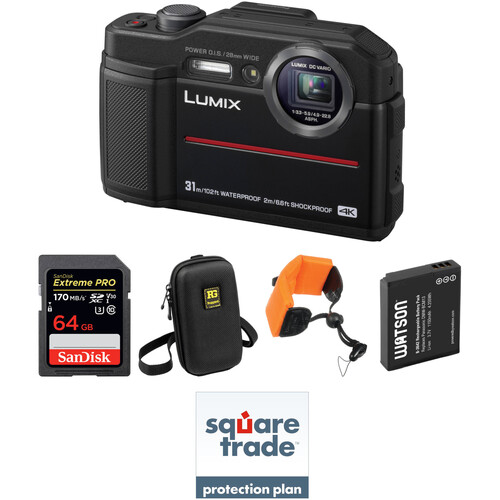 Panasonic DC-TS7 Digital Camera Deluxe Kit (Black)