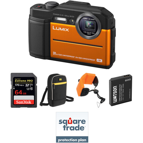 Panasonic DC-TS7 Digital Camera Deluxe Kit (Orange)