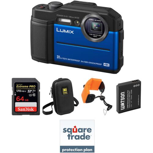 Panasonic DC-TS7 Digital Camera Deluxe Kit (Blue)