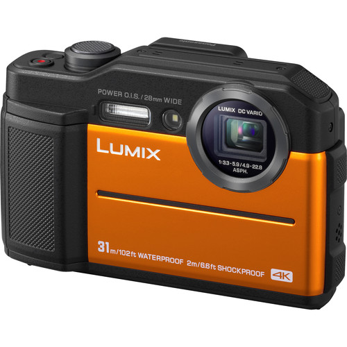 Panasonic Lumix DC-TS7 Digital Camera (Orange)