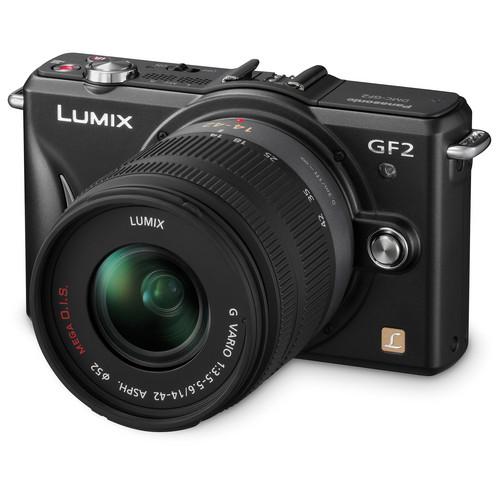 Panasonic Lumix DMC-GF2 Digital Micro Four Thirds Camera W/14-42mm Lens (Black)