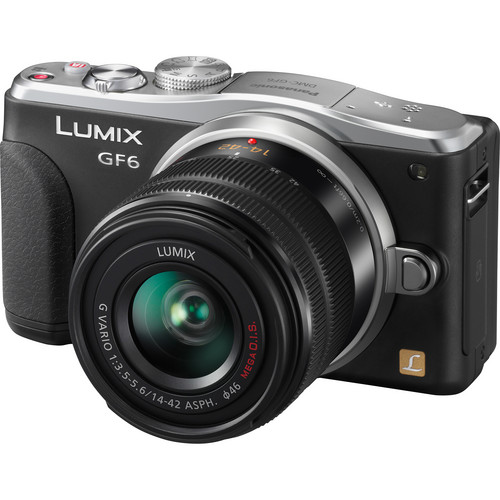Panasonic Lumix DMC-GF6 Mirrorless Micro Four Thirds Digital Camera Deluxe Accessory Kit with 14-42mm f/3.5-5.6 II Lens