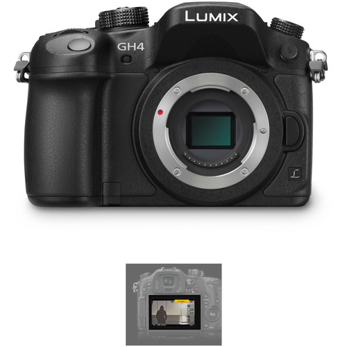Panasonic Lumix DMC-GH4 Mirrorless Micro Four Thirds Digital Camera with V-Log L Activation Code Kit
