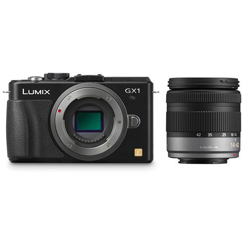 Panasonic DMC-GX1 Mirrorless Micro Four Thirds Digital Camera Kit with 14-42mm f/3.5-5.6 Lens (Black)