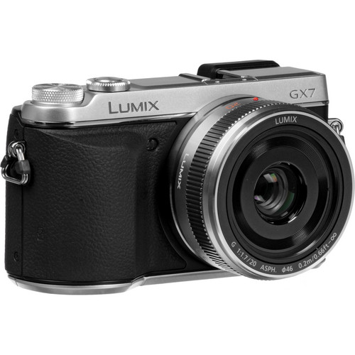 Panasonic Lumix DMC-GX7 Mirrorless Micro Four Thirds Digital Camera with 20mm f/1.7 II ASPH. Lens (Silver)