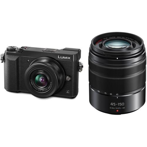Panasonic Lumix DMC-GX85 Mirrorless Micro Four Thirds Digital Camera with 12-32mm and 45-150mm Lenses Kit (Black)
