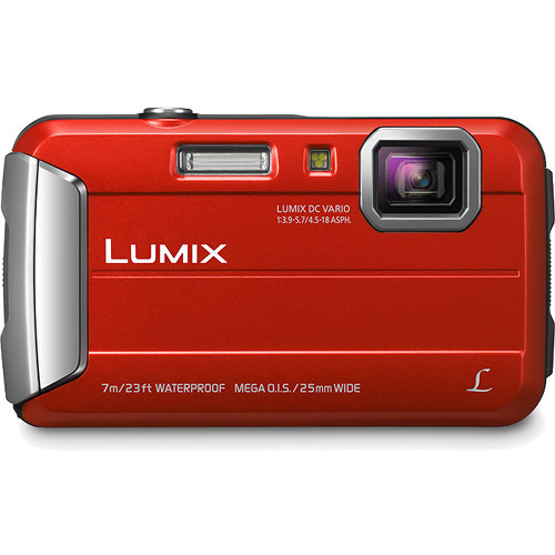Panasonic Lumix DMC-TS25 Digital Camera (Red)