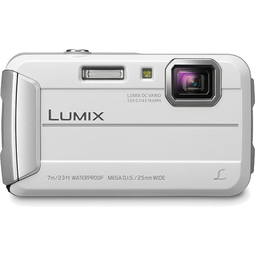 Panasonic Lumix DMC-TS25 Digital Camera (White)