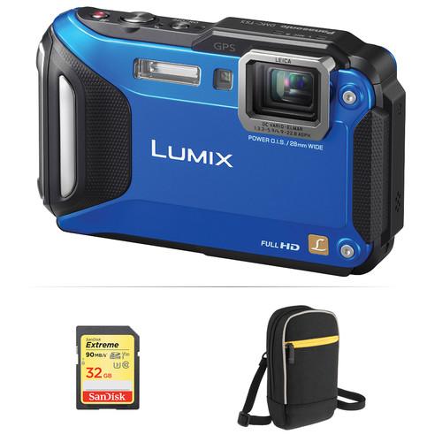 Panasonic Lumix DMC-TS5 Digital Camera Basic Kit (Blue)