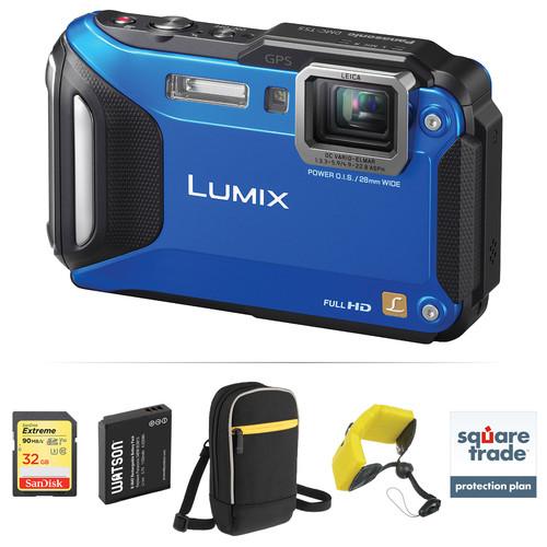 Panasonic Lumix DMC-TS5 Digital Camera Deluxe Kit (Blue)
