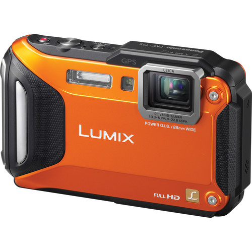 Panasonic Lumix DMC-TS5 Digital Camera (Orange)