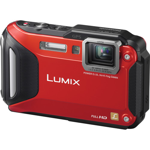 Panasonic Lumix DMC-TS6 Digital Camera (Red)