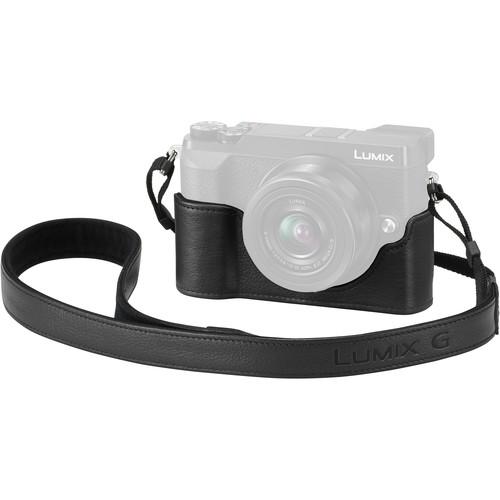 Panasonic Leather Half Case for Lumix GX85 Camera (Black)