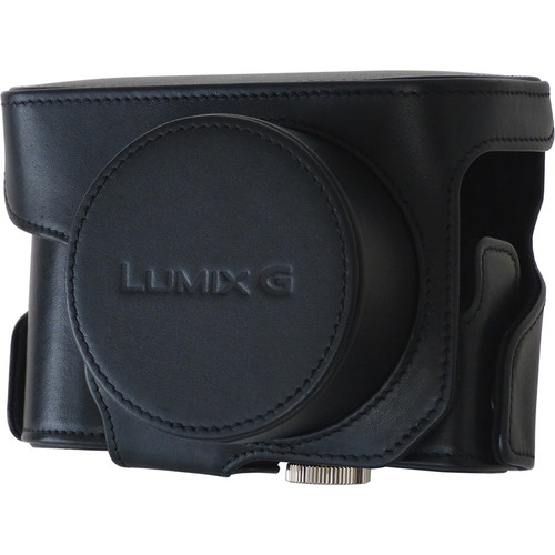 Panasonic Leather Case for LUMIX GX7 Mirrorless Micro Four Thirds Digital Camera / Compact Lens (Black)