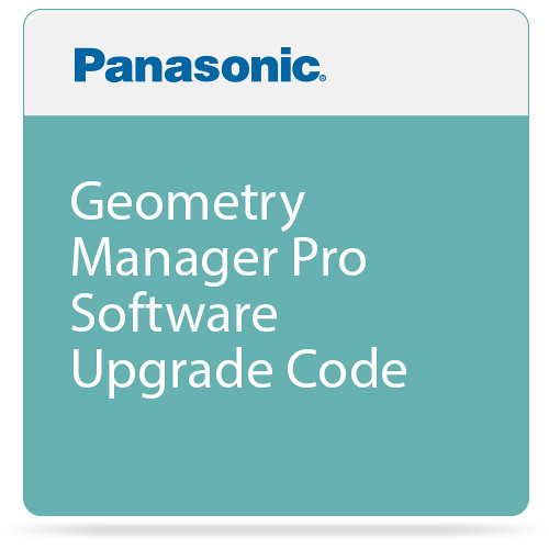 Panasonic Geometry Manager Pro Software Upgrade Code for Select PT Series Projectors