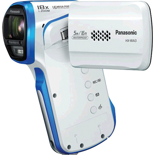 Panasonic HX-WA03 Full HD Active Lifestyle Camcorder (White)